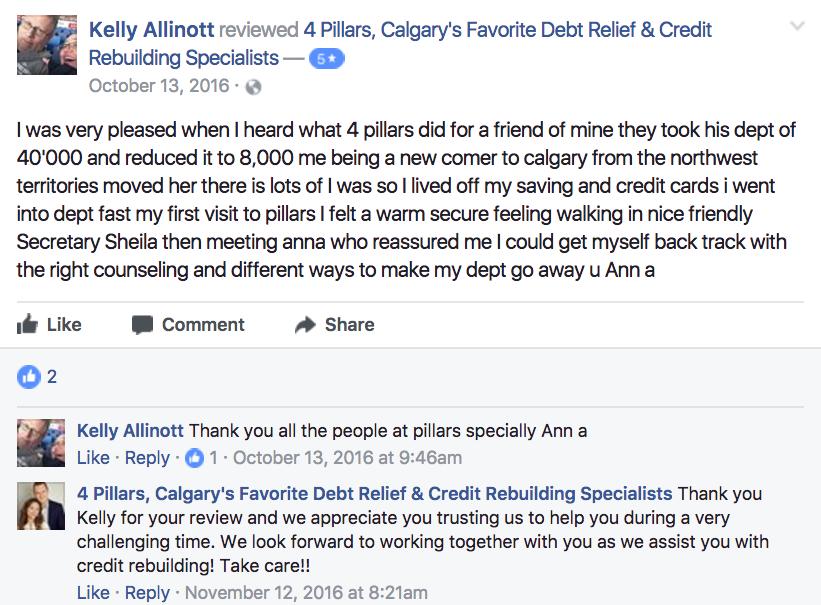 4 Pillars debt consultants